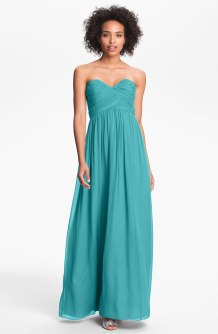 Donna Morgan 'Lauren' Ruched Sweetheart Silk Chiffon Gown, from nordstrom.com