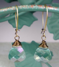 Earrings, by milminedesign on etsy.com