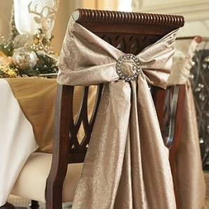 Elegant chair bows