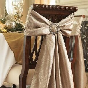 Elegant chair bows