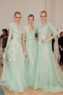 Elie Saab mint dresses