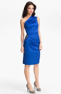 Eliza J Beaded One Shoulder Satin Dress, from nordstrom.com