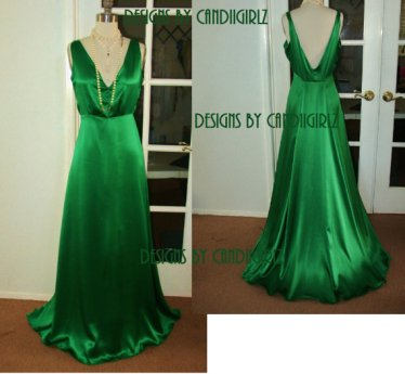 Emerald-green wedding dress, by DESIGNSByCandiigirlz on etsy.com