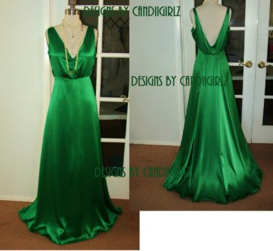 Emerald-green wedding dress, by DESIGNSByCandiigirlz on etsy.com