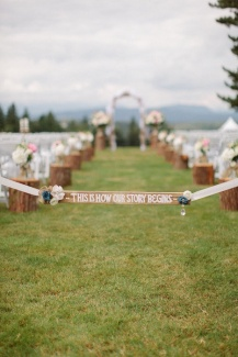 Entrance to the ceremony area