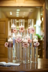 Floating candle centrepieces