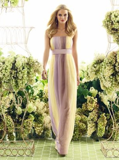 Full-length ombre bridesmaid dress, from dessy.com