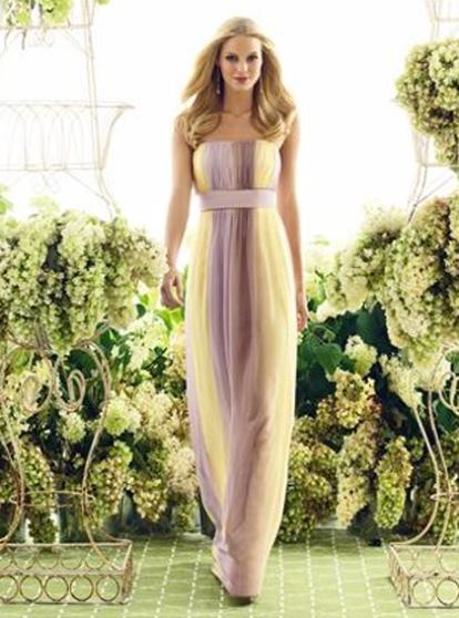 Full-length ombre bridesmaid dress, from dessy.com