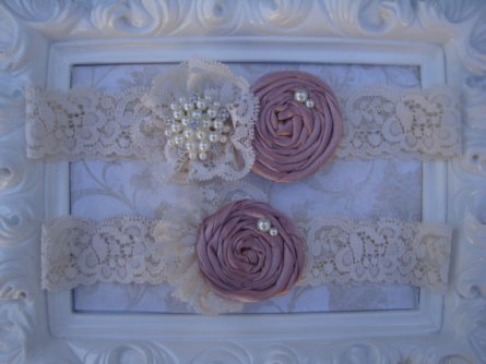 Garters, by BellaFleurBridal on etsy.com