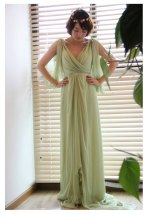 Sage-green wedding dress, by kurhn on etsy.com
