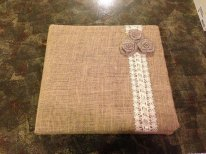 Guest book, by CorriesCountryCrafts on etsy.com