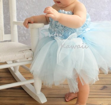Infant or toddler flower girl dress, by TutuKawaii on etsy.com