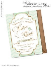 Save the date invitation, by serendipitycreative on etsy.com