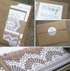Invitation suite, by lifewelllived on etsy.com