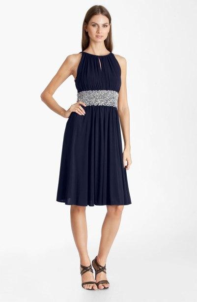 JS Boutique Embellished Ruched Jersey Dress, from nordstrom.com