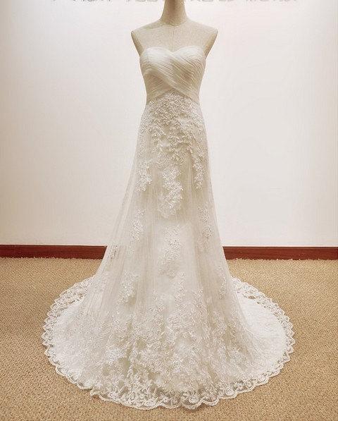 Vintage Wedding Dresses Etsy: Lace Wedding Dress, By Lassdress On Etsy.com