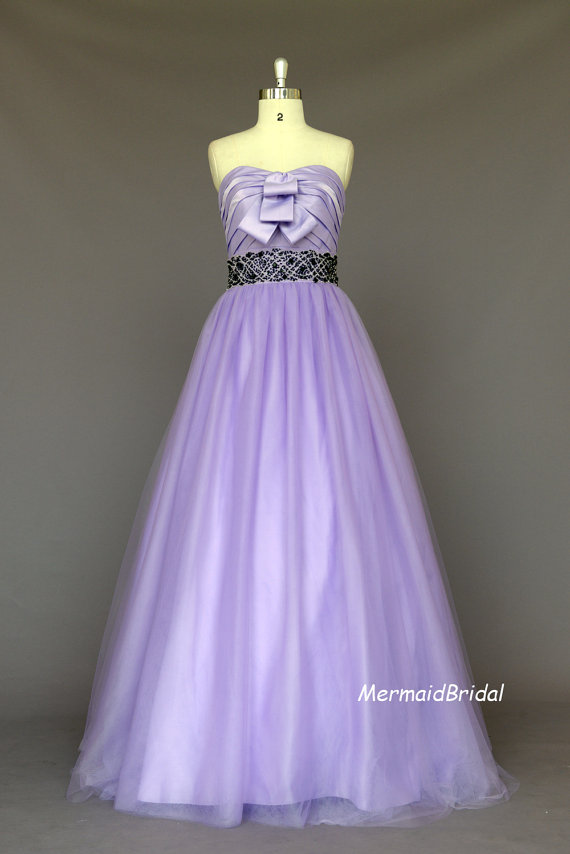 Lavender wedding dress by mermaidbridal on the for Lilac dress for wedding