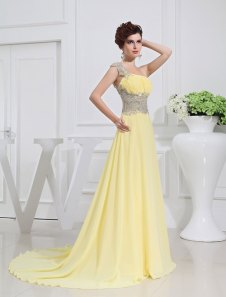 Lemon-yellow wedding dress, by Lemonweddingdress on etsy.com