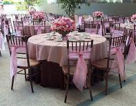 Mauve wedding reception