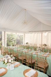 Mint and gold reception