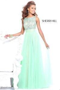 Mint-green Sherri Hill Dress, from tjformal.com