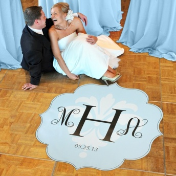 Monogram dance floor decal