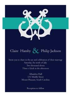 Nautical-themed invitation, by HeraldGoods on etsy.com