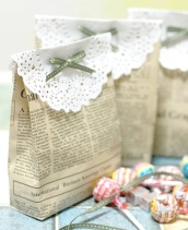 Newspaper favour bags