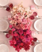 Ombre Flower Centrepiece