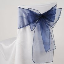 Organza chair sashes, by HandmadeByHeather4U on etsy.com