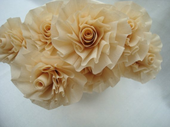 Paper flowers, by FabricatedFamily on etsy.com
