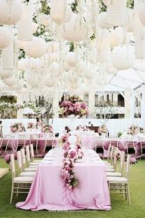 Paper lantern-filled sky/ceiling