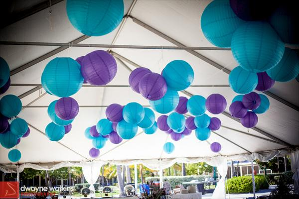 Purple and turquoise wedding inspiration the merry bride - Decoration bleu turquoise ...