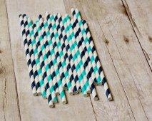 Paper straws, by CreateMyFete on etsy.com