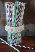Paper straws, by SpiralSage on etsy.com