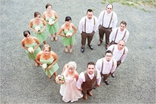 Photo idea for a large wedding party