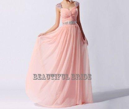 Pink wedding dress, by BeautifulBride1016 on etsy.com