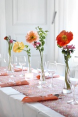 Poppy centrepieces