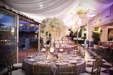 Reception in mauve and ivory