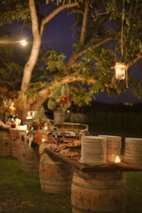 Rustic buffet setting