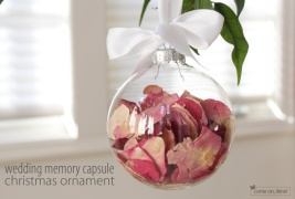 Save your bouquet from your wedding and turn it into an ornament