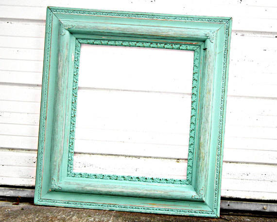 Shabby-chic frame, by TheDustyNook on etsy.com | The Merry Bride