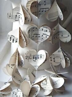 Sheet music decorations