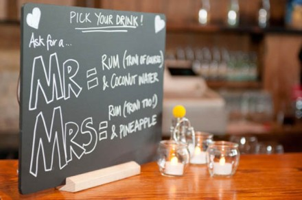 Signature drinks - order a Mr or a Mrs!