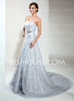 Silver wedding dress, from jjshouse.com