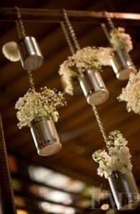 Tin can and Baby's Breath