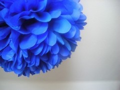Tissue-paper pompom, by PomLove on etsy.com