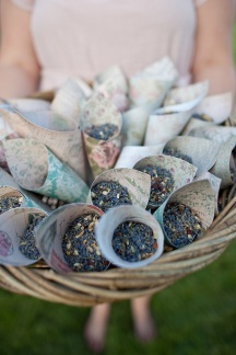 Toss lavender instead of petals for a beautifully scented walk back down the aisle