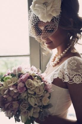 Vintage-inspired bride style