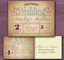 Vintage-style invitation, by CottontailPress on etsy.com